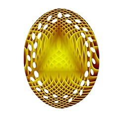 Swirling Dreams Yellow Oval Filigree Ornament (2 Side)