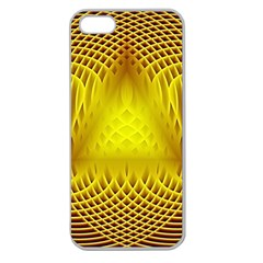 Swirling Dreams Yellow Apple Seamless Iphone 5 Case (clear) by MoreColorsinLife