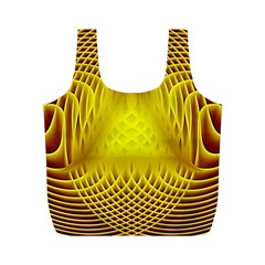 Swirling Dreams Yellow Full Print Recycle Bags (m)  by MoreColorsinLife