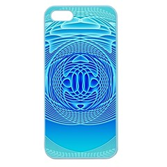 Swirling Dreams, Aqua Apple Seamless Iphone 5 Case (color) by MoreColorsinLife