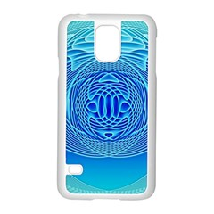 Swirling Dreams, Aqua Samsung Galaxy S5 Case (white)