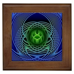 Swirling Dreams, Blue Green Framed Tiles