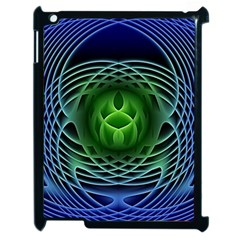 Swirling Dreams, Blue Green Apple Ipad 2 Case (black) by MoreColorsinLife