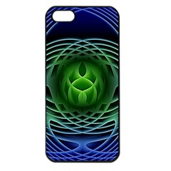Swirling Dreams, Blue Green Apple Iphone 5 Seamless Case (black) by MoreColorsinLife