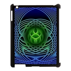 Swirling Dreams, Blue Green Apple Ipad 3/4 Case (black) by MoreColorsinLife