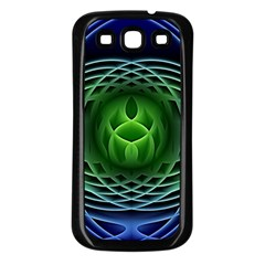 Swirling Dreams, Blue Green Samsung Galaxy S3 Back Case (black) by MoreColorsinLife