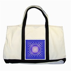 Swirling Dreams, Blue Two Tone Tote Bag  by MoreColorsinLife