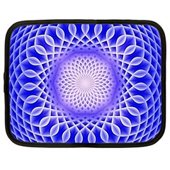 Swirling Dreams, Blue Netbook Case (large)