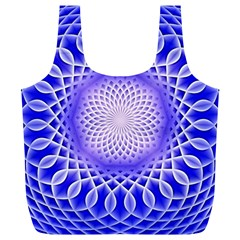 Swirling Dreams, Blue Full Print Recycle Bags (l)  by MoreColorsinLife