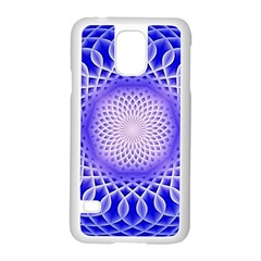 Swirling Dreams, Blue Samsung Galaxy S5 Case (white)