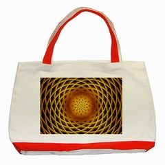 Swirling Dreams, Golden Classic Tote Bag (red)  by MoreColorsinLife