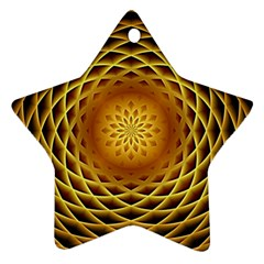 Swirling Dreams, Golden Star Ornament (two Sides)