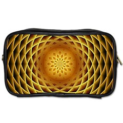 Swirling Dreams, Golden Toiletries Bags by MoreColorsinLife