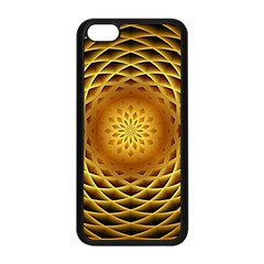 Swirling Dreams, Golden Apple Iphone 5c Seamless Case (black) by MoreColorsinLife