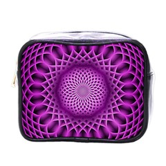 Swirling Dreams, Hot Pink Mini Toiletries Bags by MoreColorsinLife