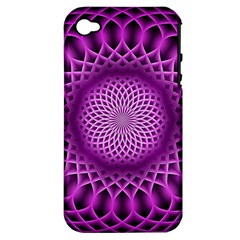 Swirling Dreams, Hot Pink Apple Iphone 4/4s Hardshell Case (pc+silicone) by MoreColorsinLife