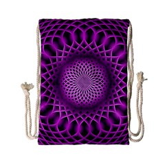 Swirling Dreams, Hot Pink Drawstring Bag (small) by MoreColorsinLife