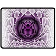 Swirling Dreams, Purple Fleece Blanket (large)