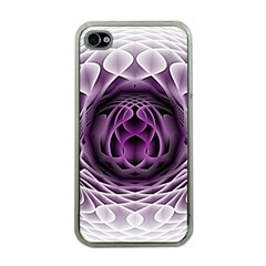 Swirling Dreams, Purple Apple Iphone 4 Case (clear) by MoreColorsinLife