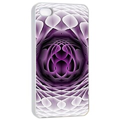 Swirling Dreams, Purple Apple Iphone 4/4s Seamless Case (white) by MoreColorsinLife