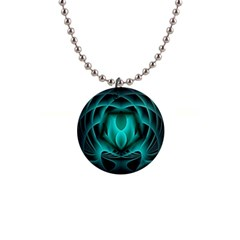 Swirling Dreams, Teal Button Necklaces by MoreColorsinLife