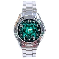 Swirling Dreams, Teal Stainless Steel Men s Watch by MoreColorsinLife