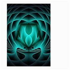 Swirling Dreams, Teal Small Garden Flag (two Sides) by MoreColorsinLife