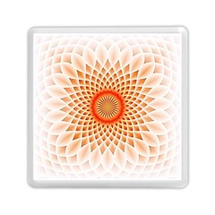 Swirling Dreams,peach Memory Card Reader (square)