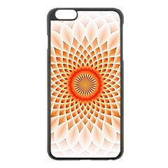 Swirling Dreams,peach Apple Iphone 6 Plus/6s Plus Black Enamel Case