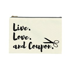 Live  Love  And Coupon  Cosmetic Bag (large) by maemae