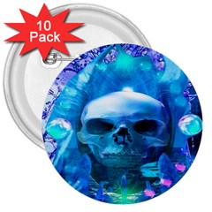 Skull Worship 3  Buttons (10 Pack)  by icarusismartdesigns