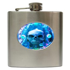 Skull Worship Hip Flask (6 Oz) by icarusismartdesigns