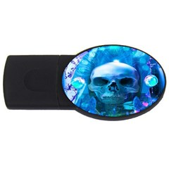 Skull Worship Usb Flash Drive Oval (2 Gb)  by icarusismartdesigns