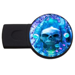 Skull Worship Usb Flash Drive Round (4 Gb)  by icarusismartdesigns