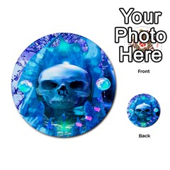 Skull Worship Multi Purpose Cards (round)  by icarusismartdesigns