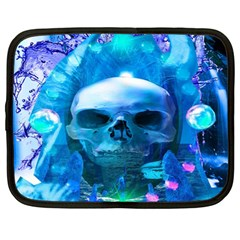 Skull Worship Netbook Case (large) by icarusismartdesigns