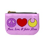 Peace, Love, and Sailor Moon Coin Change Purse Front