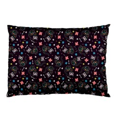 Dia De Los Gatos Pillow Case (two Sides) by Ellador