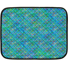 Mermaid Scales Mini Fleece Blanket (single Sided)