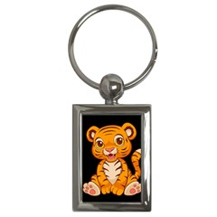 Little Tiger Key Chain (rectangle) by Ellador