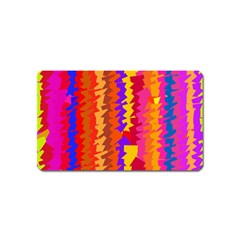 Colorful Pieces Magnet (name Card) by LalyLauraFLM