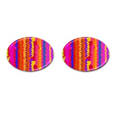 Colorful Pieces Cufflinks (oval) by LalyLauraFLM
