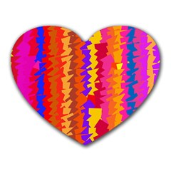 Colorful Pieces Heart Mousepad by LalyLauraFLM