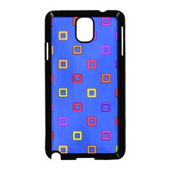 3d Squares On A Blue Background Samsung Galaxy Note 3 Neo Hardshell Case
