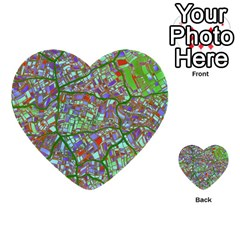 Fantasy City Maps 2 Multi Purpose Cards (heart)  by MoreColorsinLife