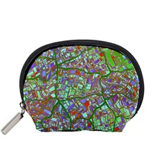 Fantasy City Maps 2 Accessory Pouches (small)  by MoreColorsinLife
