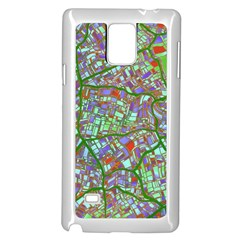 Fantasy City Maps 2 Samsung Galaxy Note 4 Case (white) by MoreColorsinLife