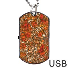 Fantasy City Maps 3 Dog Tag Usb Flash (two Sides)  by MoreColorsinLife
