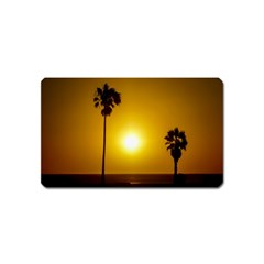 Sunset Scene At The Coast Of Montevideo Uruguay Magnet (name Card) by dflcprints