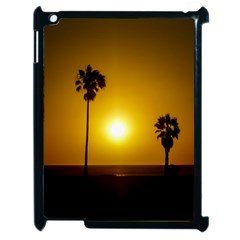 Sunset Scene At The Coast Of Montevideo Uruguay Apple Ipad 2 Case (black) by dflcprints